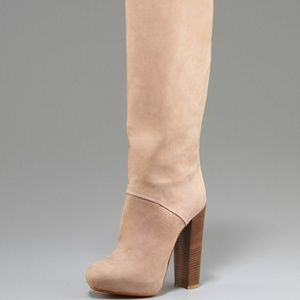 Brian Atwood Phoenicia Platform Boots- Natural